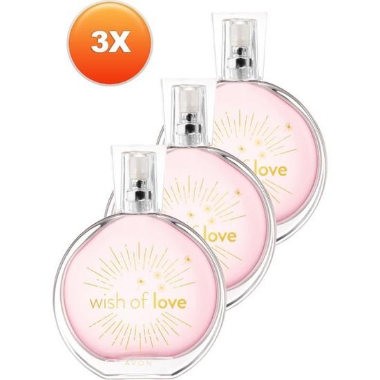 Avon Wish Of Love Edt 50 Ml Bayan Parfüm 3 Adet