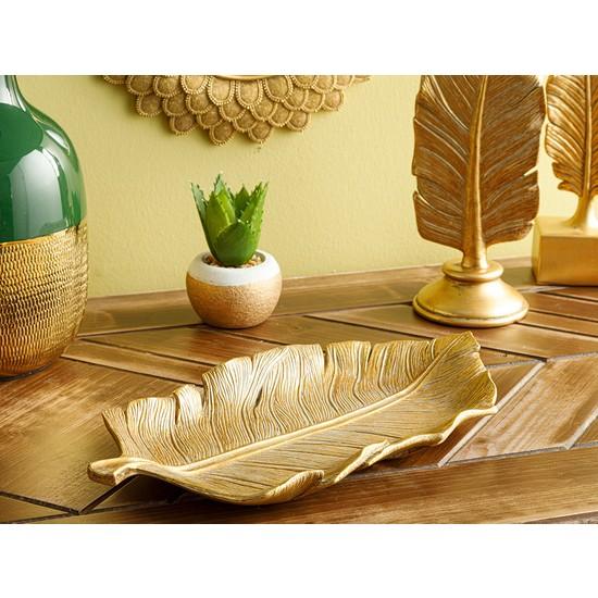 English Home Banana Leaf Dekoratif Tabak 13X25.4X2.3CM Gold