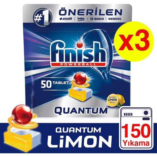 Finish Quantum 150 Tablet Bulaşık Makinesi Deterjanı Limon (50X3)