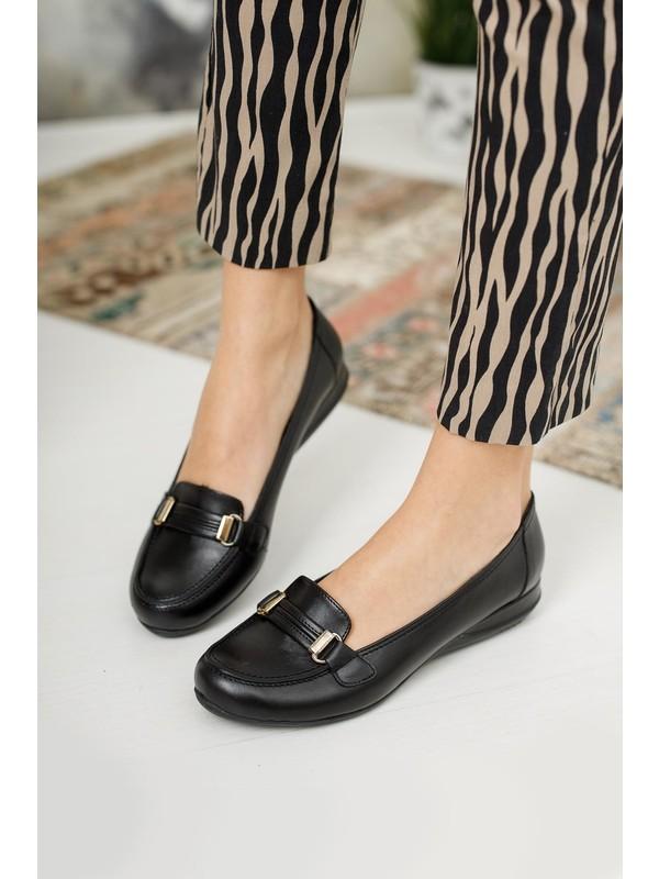 Diego Carlotti Deri Kadın Babet Ayakkabı