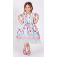 MNK Kız Çocuk Poni Unicorn Tütülü Elbise