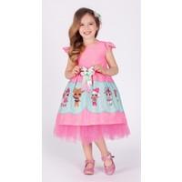 MNK Kız Çocuk Pembe Tütülü Lol Elbise