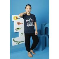 Hmd Erkek Çocuk Garson Boy Lacivert Kısa Kollu Pijama Takımı 7134