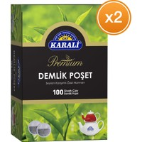 Karali Premium Demlik Poşet Siyah Çay 100 x 3,2 gr 2 Adet