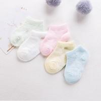 Bgk Yenidoğan Bebek Çorabı / Çocuk Patik Çorabı 5'li Set 3 Boy Renkli (Extra Soft Antibakteriyel)