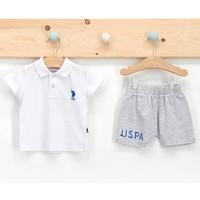 U.s. Polo Assn 2 Li Şortlu Takım Erkek Bebek Beyaz