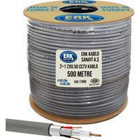 Cable Cable Kamera Kablosu 2+1 Cctv 0.50 500 mt Erk Yerli