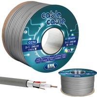 Cable Cable Kamera Kablosu 2+1 Cctv 0.50 100 mt Erk Yerli