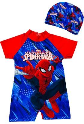 Kids Wear Spiderman Örümcek Adam Erkek Çocuk Mayo Bone Takımı
