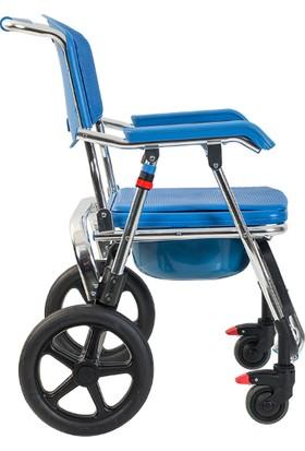 Golfi G551 Aluminyum Katlanabilir Banyo Tuvalet Tekerlekli Sandalye