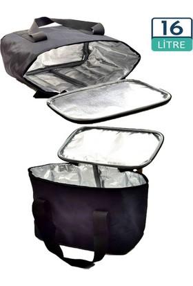 Carneil 16 Litre Siyah Sıcak Soğuk Koruma Sağlayan Termal Kamp Gıda Piknik Doğa Çantası