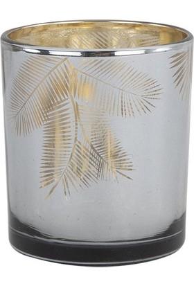 Bella Maison Leaf Tealight Mumluk Antrasit 7x8 cm