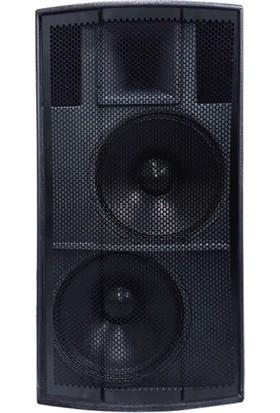 Promaın MS-2015E Çift Yollu 2 x 38 cm 1200W Pasif Ahşap Kabin Hoparlör( Kule Hop)