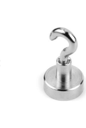 Dünya Magnet 12 mm Pot Mıknatıs - Güçlü Neodyum Askı Kanca Mıknatıs