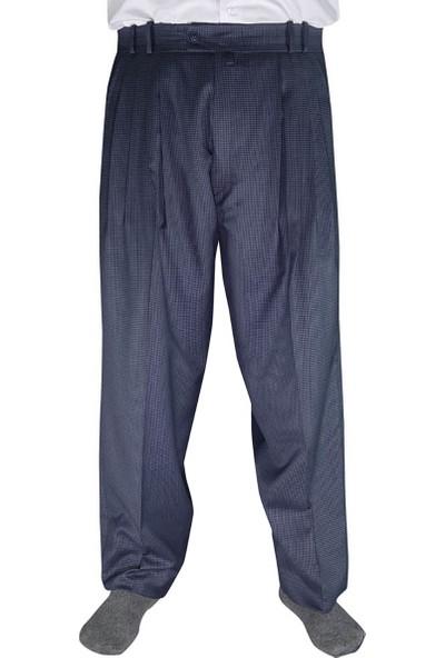 Akıncı Tekstil Kışlık Şalvar Pantolon 4 Pileli Gri Mini Ekoseli