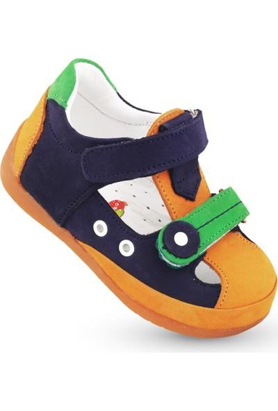 Kaptan Junior Ilkadım Hakiki Deri Erkek Bebek Ortapedik Ayakkabı Imse 112