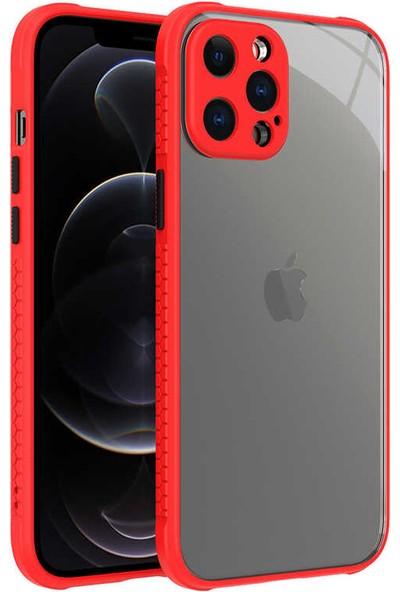 Zore Apple iPhone 12 Pro Max Kılıf zore Kaff Kapak Kırmızı