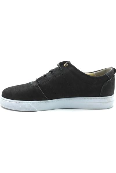 Artmen Hakiki Nubuk Deri Siyah Erkek Günlük Ayakkabı 1030129