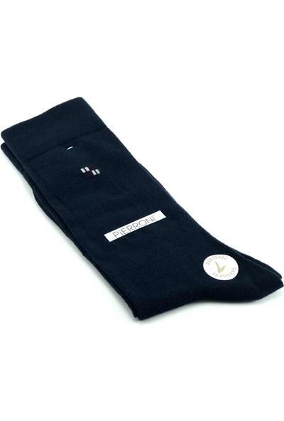 Pierroni Bordo Kravat Mendil Kol Düğmesi Çorap Özel Set