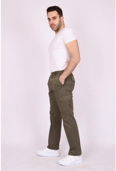 Aclassics Erkek Haki Kargo Cepli Denim Outdoor Spor Pantolon