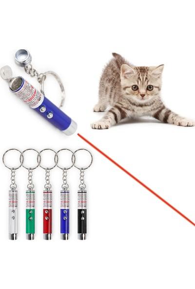 Bigem Kedi Oymatmak Için Lazer Mini Lazer Anahtarlık Lazer Işık Kırmızı Noktalı Lazer