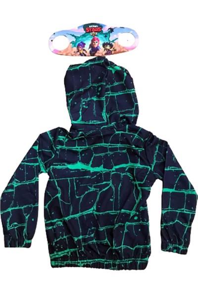 Brawl Stars Çocuk Kapüşonlü Fermuarlı Sweatshirt