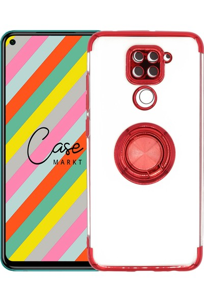Case Markt Xiaomi Redmi Note 9 Yüzüklü Silikon Telefon Kılıfı