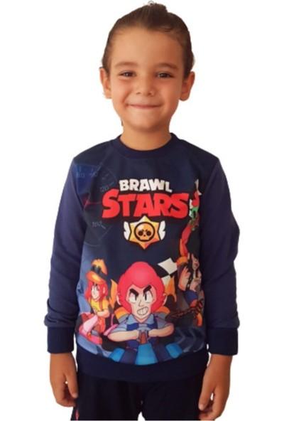 Brawl Stars Erkek Çocuk Lacivert Sweatshirt