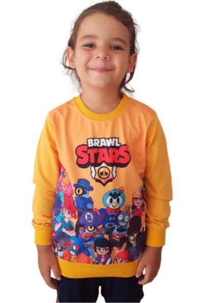 Brawl Stars Çocuk Sarı Sweatshirt