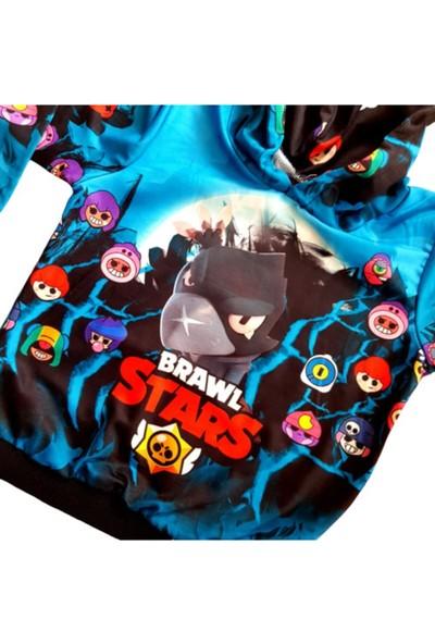 Brawl Stars Erkek Çocuk Turkuaz Sweatshirt