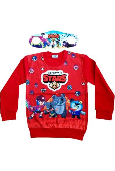 Brawl Stars Erkek Çocuk Brawl Stars Tasarım Özel Baskı Sweatshirt