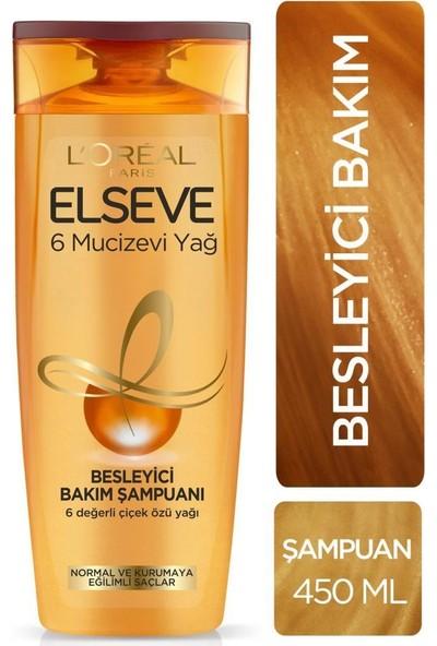 Elseve 6 Mucizevi Yağ Besleyici Bakım Şampuanı 450 ml Seti