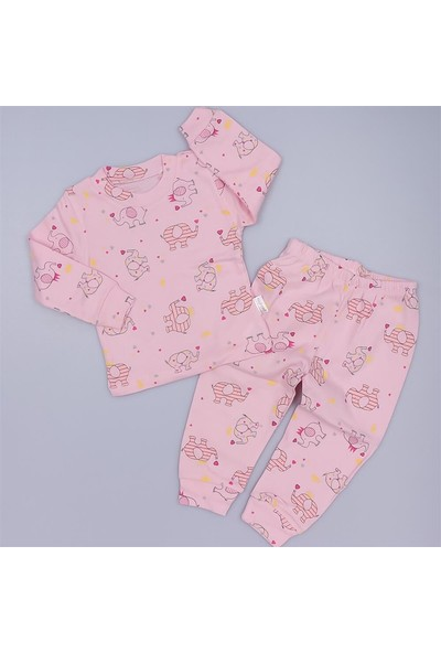 Fil Baskılı 2'li Kız Çocuk Pijama Takım