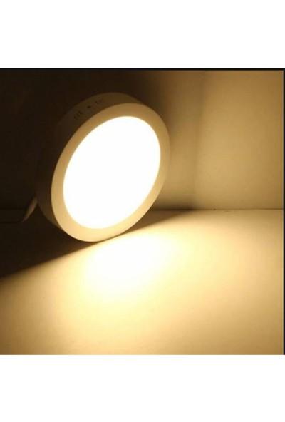 Agb 18W Yuvarlak Günışığı Işık Sıvaüstü Panel Tavan Aydınlatma Armatür 3200K Günışığı
