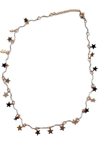 X-lady Accessories Rose Kaplama Yıldız Kolye