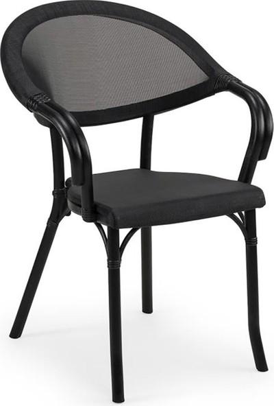 Tilia Beta 2 Kişilik Camlı Masa Sandalye Takımı Bahçe Balkon Seti