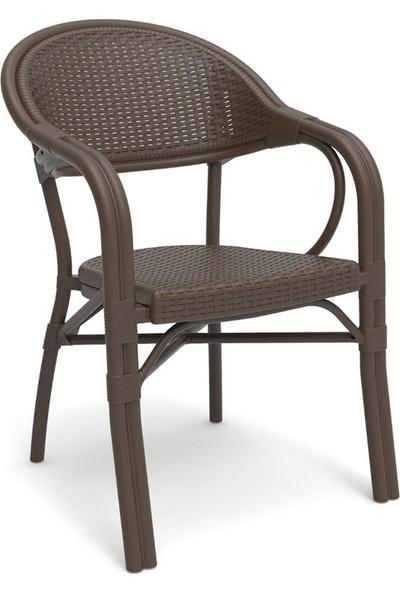 Novussi Nirvana 4 Sandalyeli Cam Masa Takımı Bahçe Mobilyası