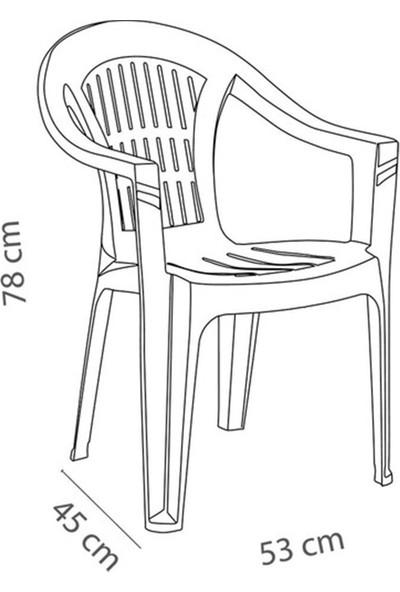 Holiday Bahar 80X140CM Bahçe Balkon Masa Takımı 6 Sandalyeli