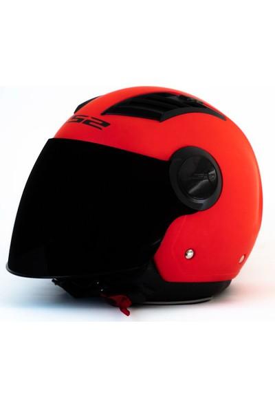 Ls2 Aırflow Mat Kırmızı Kask Siyah Cam