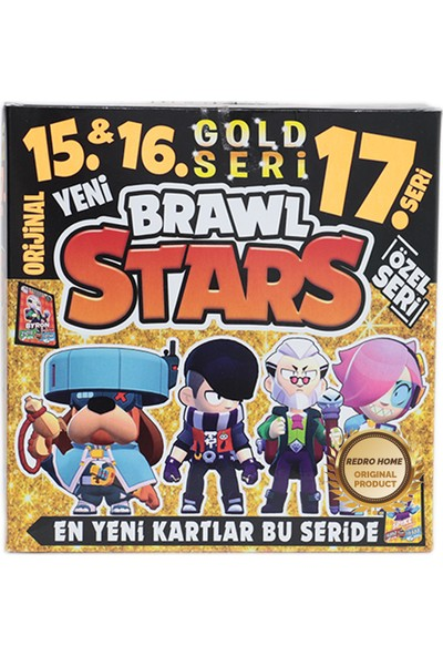 Redro Home Brawl Stars 15-16-17 Gold Seri Maxi Boy 400 Adet Oyun Kartı