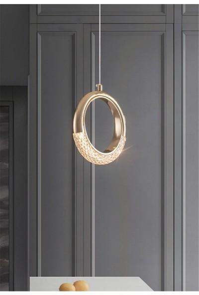 Burenze Elegance Luxury Tasarım Modern Sarkıt LED Avize Gold Sarı Harika Görsel BURENZE816
