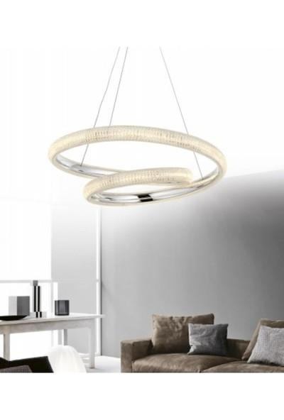 Burenze Modern Elegance Luxury Sarkıt LED Avize Krom Kademeli 3 Renk BURENZE846