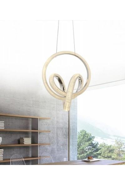 Burenze Modern Luxury Sarkıt LED Avize Kademeli 3 Renk BURENZE848