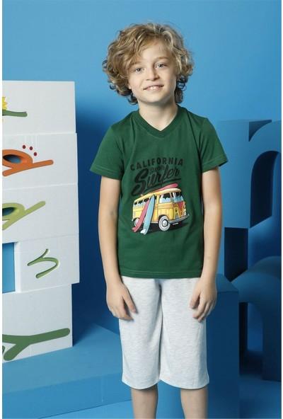 Hmd Erkek Çocuk Yeşil Kısa Kollu Kapri Takım 5508