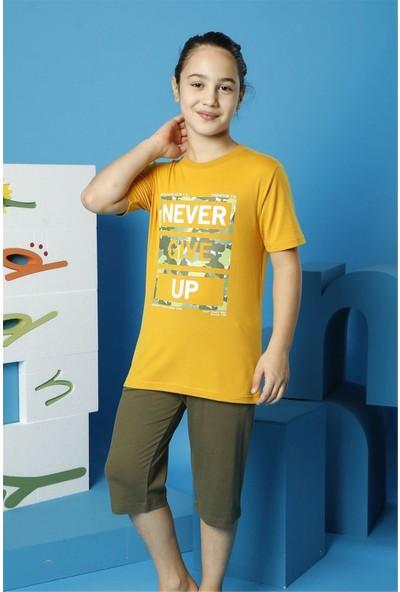 Hmd Erkek Çocuk Garson Boy Hardal Kısa Kollu Kapri Takım 7149