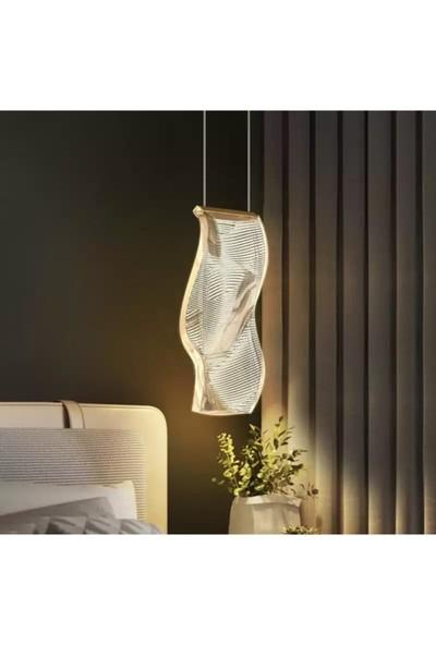 Burenze Ultra Luxury Elegante Tekli Sarkıt LED Avize Nordic Tasarım Gün Işığı BURENZE878