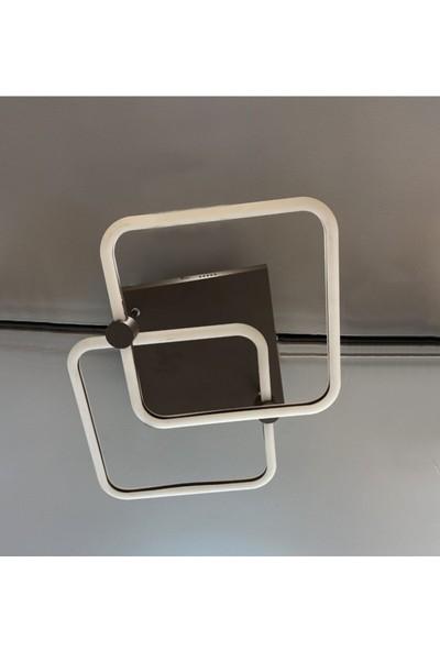 Burenze Modern Plafonyer LED Avize Kademeli 3 Renk Koyu Kahve BURENZE911