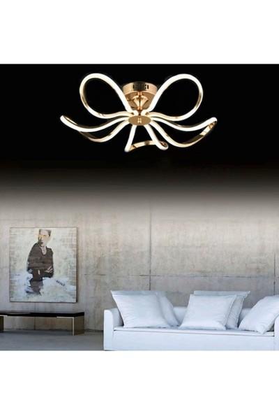 Burenze Modern Nordic Tasarım Plafonyer LED Avize Gold Sarı BURENZE906