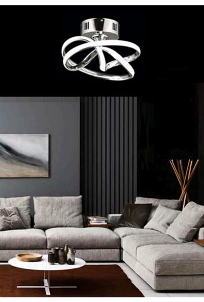 Burenze Modern Tasarım Plafonyer LED Avize Krom BURENZE904