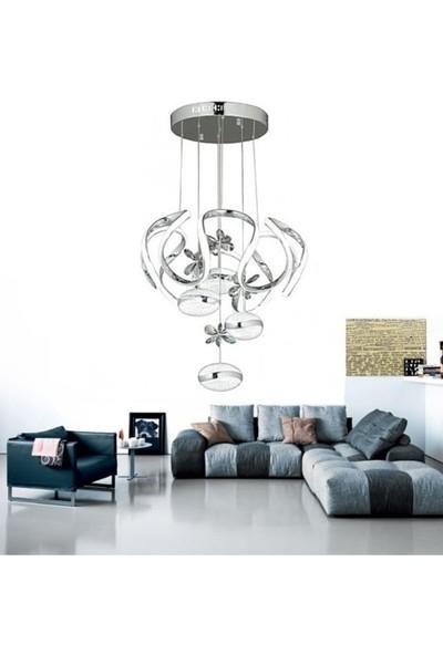 Burenze Luxury Modern Sarkıt LED Avize Krom BURENZE621